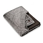 UGG® Dawson Faux Fur Throw Blanket in Chocolate
