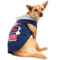 Smoochie Pooch Extra Small Mommy's Little Charmer Hoodie in Navy