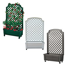 cart on wheels exaco trading co calypso planter with trellis bed bath 13277