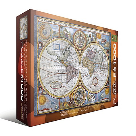 Eurographics antique world map 1000 piece jigsaw puzzle buybuy baby eurographics antique world map 1000 piece jigsaw puzzle gumiabroncs Gallery