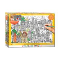 EuroGraphics Color-Me 300-Piece Town Houses Puzzle