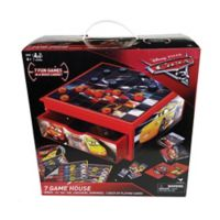 "Cardinal ""Cars 3"" 7-in-1 Game House Wood Cabinet"