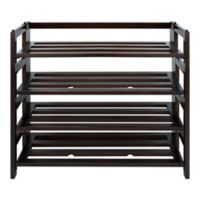 Casual Home 4-Shelf Folding Shoe Rack