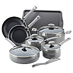 Rachael Ray™ Cityscapes Porcelain Enamel 12-Piece Cookware Set in Grey