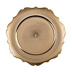 13-Inch Scalloped Charger Plates in Gold (Set of 6)
