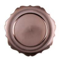13-Inch Scalloped Charger Plates in Copper (Set of 6)