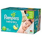 Pampers® Baby-Dry 120-Count Size 1 Disposable Super Pack Diapers