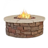 Real Flame® Sedona Round Liquid Propane Fire Table in Buff