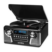 Victrola Retro Stereo with Turntable in Black