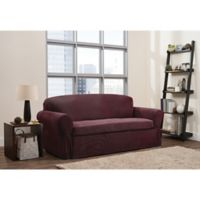 Smart Fit 2-Piece Connor Stretch Sofa Slipcover in Garnet
