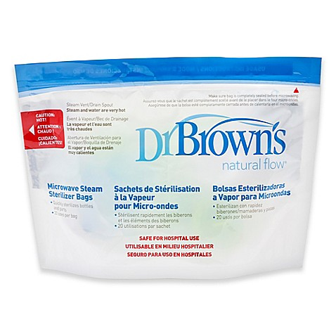 Dr Brown S Natural Flow 174 Microwave Steam Sterilizer Bags