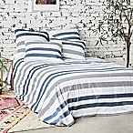 Carol & Frank Noland Stripe King Duvet Cover in Indigo