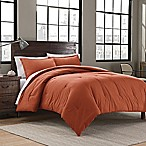 Garment Washed Solid Twin/Twin XL Comforter Set in Burnt Orange