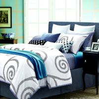 Spectrum Home Textiles Reflections Queen Duvet Set in Grey