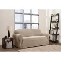 Smart Fit 1-Piece Connor Sofa Slipcover in Taupe
