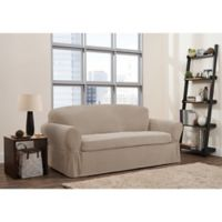 Smart Fit 2-Piece Connor Sofa Slipcover in Taupe