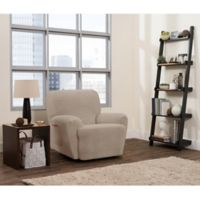 Smart Fit 4-Piece Connor Recliner Slipcover in Taupe