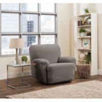 Smart Fit Tinsley 4-Piece Stretch Recliner Slipcover in Grey
