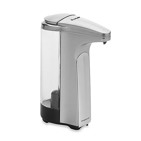 Simplehuman sensor pump touch free soap dispenser bed bath beyond - Simplehuman shampoo soap dispensers ...