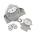 Baby Aspen Size 0-6M 3-Piece Monkey Bath Gift Set