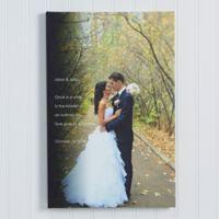 Wedding Sentiments 16-Inch x 20-Inch Canvas Print
