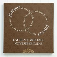 Forever and Ever 8-Inch x 8-Inch Canvas Print
