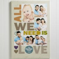 All We Need Is Love 24-Inch x 36-Inch Canvas Print