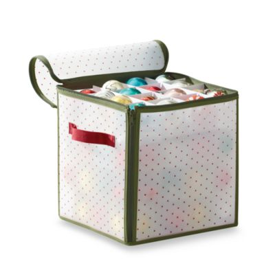 Real Simple® Holiday 64 Count Ornament Storage Box