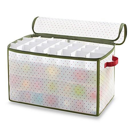 Real Simple 174 Holiday 112 Count Ornament Storage Box Bed