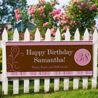 Floral and Stripes Birthday Banner