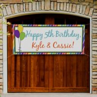 Party Stripe Birthday Banner