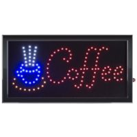 Nottingham Home Coffee LED Neon Animated 10-Inch x 19-Inch Sign