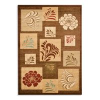 Safavieh Lyndhurst Flower and Leaf Motif 5-Foot 3-Inch x 7-Foot 6-Inch Room Size Rug in Brown