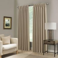 Paradise 95-Inch Pinch Pleat Room Darkening Window Curtain Panel in Flax
