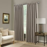 Paradise 95-Inch Pinch Pleat Room Darkening Window Curtain Panel in Stone
