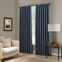 Paradise 108-Inch Pinch Pleat Room Darkening Window Curtain Panel in Indigo