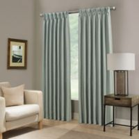 Paradise 108-Inch Pinch Pleat Room Darkening Window Curtain Panel in Spa