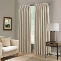 Paradise 108-Inch Pinch Pleat Room Darkening Window Curtain Panel in Ivory