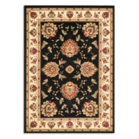 Safavieh Lyndhurst Flower Palmette 8-Foot x 11-Foot Room Size Rug in Black