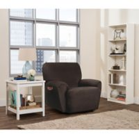 Smart Fit Roland 4-Piece Polyester Stretch Recliner Slipcover in Chocolate