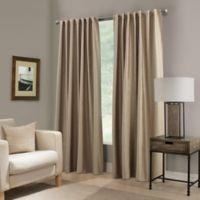 Paradise 108-Inch Rod Pocket/Back Tab Room Darkening Window Curtain Panel in Flax
