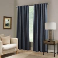 Paradise 63-Inch Rod Pocket/Back Tab Room Darkening Window Curtain Panel in Indigo