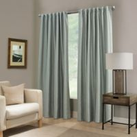 Paradise 63-Inch Rod Pocket/Back Tab Room Darkening Window Curtain Panel in Spa