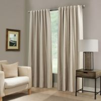 Paradise 108-Inch Rod Pocket/Back Tab Room Darkening Window Curtain Panel in Ivory