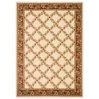 Safavieh Lyndhurst Flower and Vine 5-Foot 3-Inch x 7-Foot 6-Inch Room Size Rug in Ivory