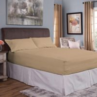 Bed Tite® Cotton Flannel 150-Thread Count Queen Sheet Set in Fawn