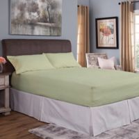 Bed Tite® Cotton Flannel 150-Thread Count Queen Sheet Set in Sage