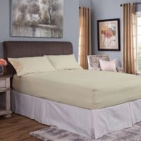 Bed Tite® Cotton Flannel 150-Thread Count Queen Sheet Set in Ivory