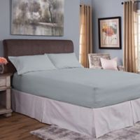 Bed Tite® Cotton Flannel 150-Thread Count Queen Sheet Set in Light Blue