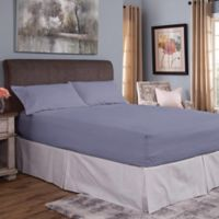 Bed Tite® Cotton Flannel 150-Thread Count Twin Sheet Set in Slate Blue